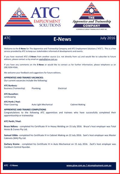 ATC E-News July 2016