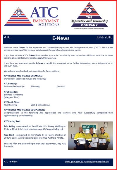 ATC E-News June 2016