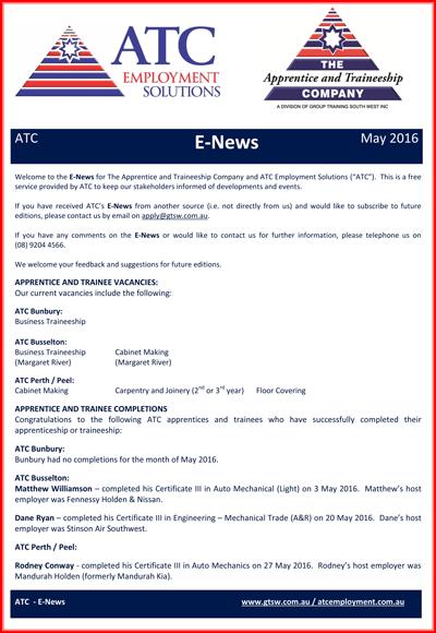 ATC E-News May 2016