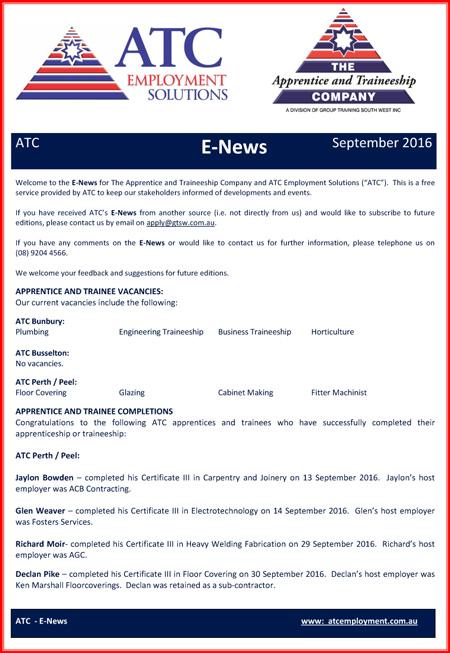 ATC E-News August 2016