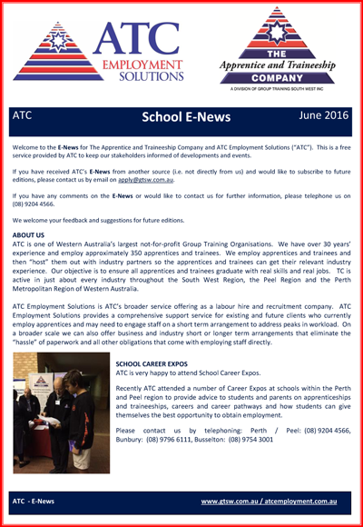 ATC School E-News June 2016