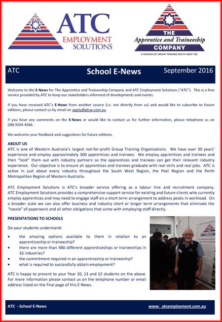 ATC School E-News September 2016