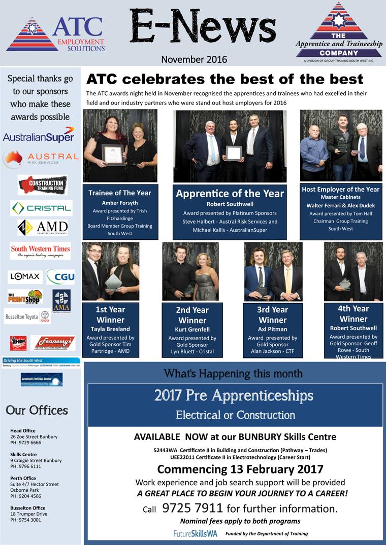 ATC E-News November 2016